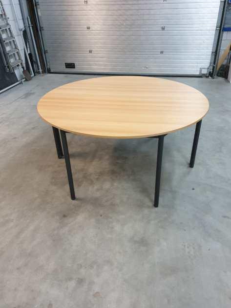 8x Kantine tafel 160x80 halfrond. Beukenantra 2