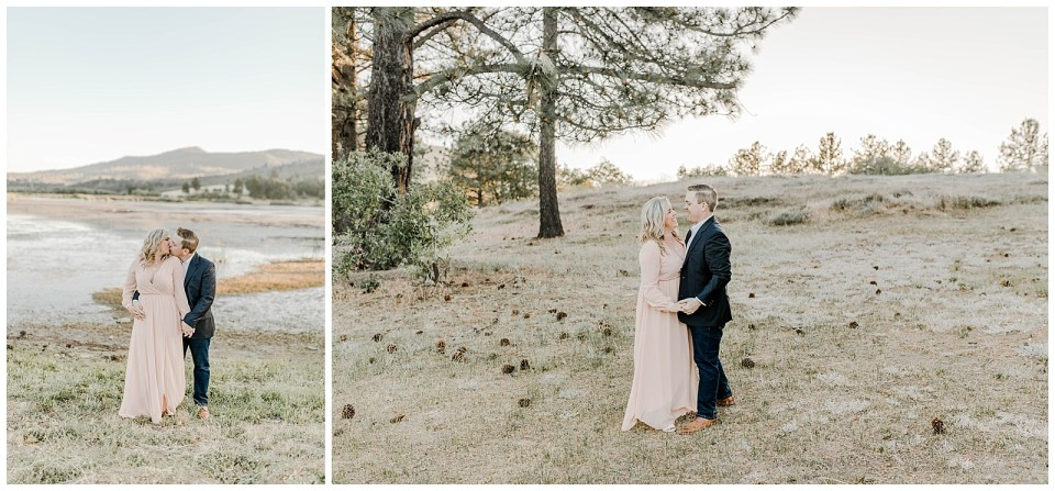 Engagement photos at Lake Cuyamaca