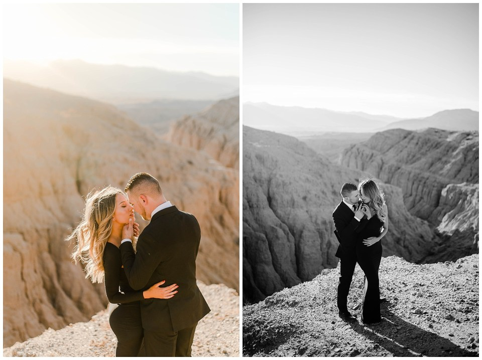 Couple in the desert - Anza Borrego Engagement Photography Session