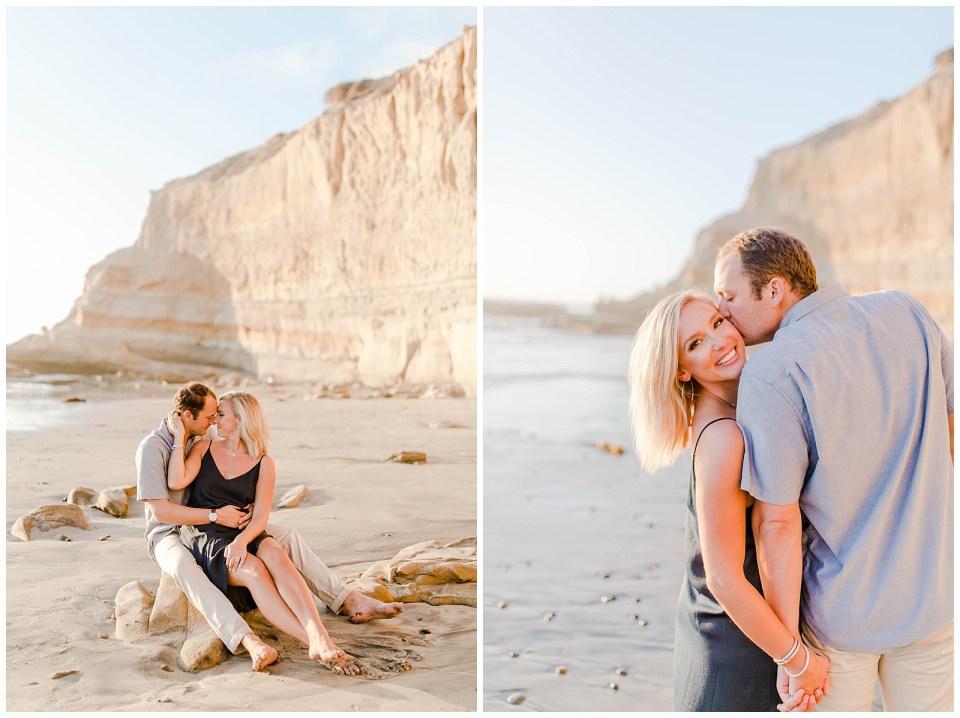 couple on the beach in san diego