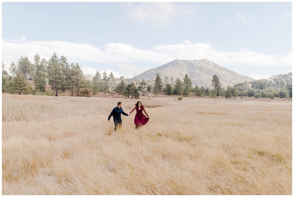 engagement photos in Lake Cuyamaca