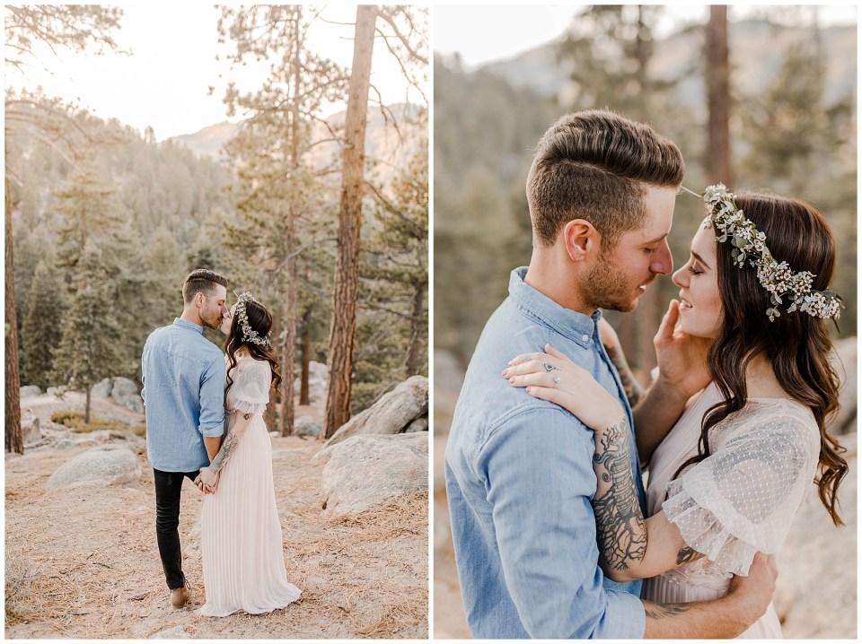 Romantic Big Bear Engagement Photography Session