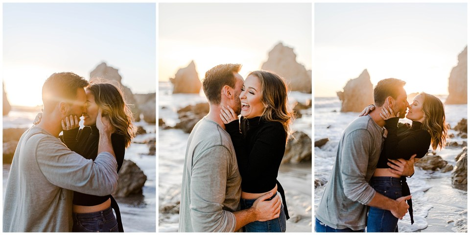 romantic engagement photography by bree and stephen