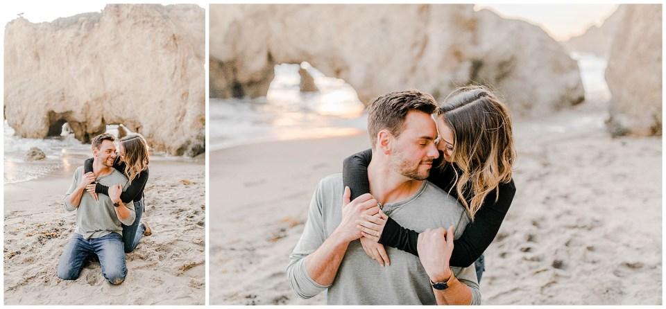 el matador beach engagement photography session