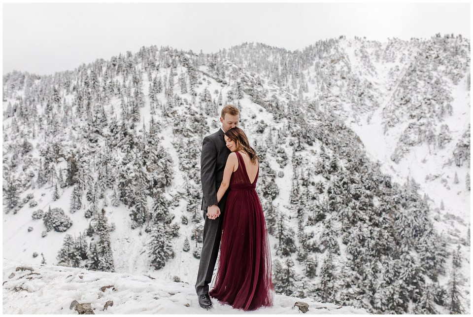 romantic photos at mount baldy in southern california