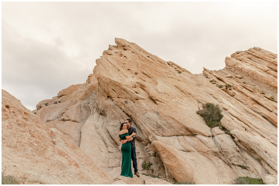 Engagement photography at Vazquez Rocks in California