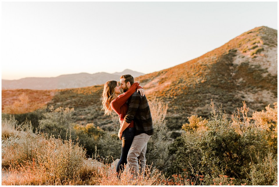 Julian Fall Time Couples Session. Adventurous Photos in Mount Laguna - Couple Bring their German Shepherd Pup!