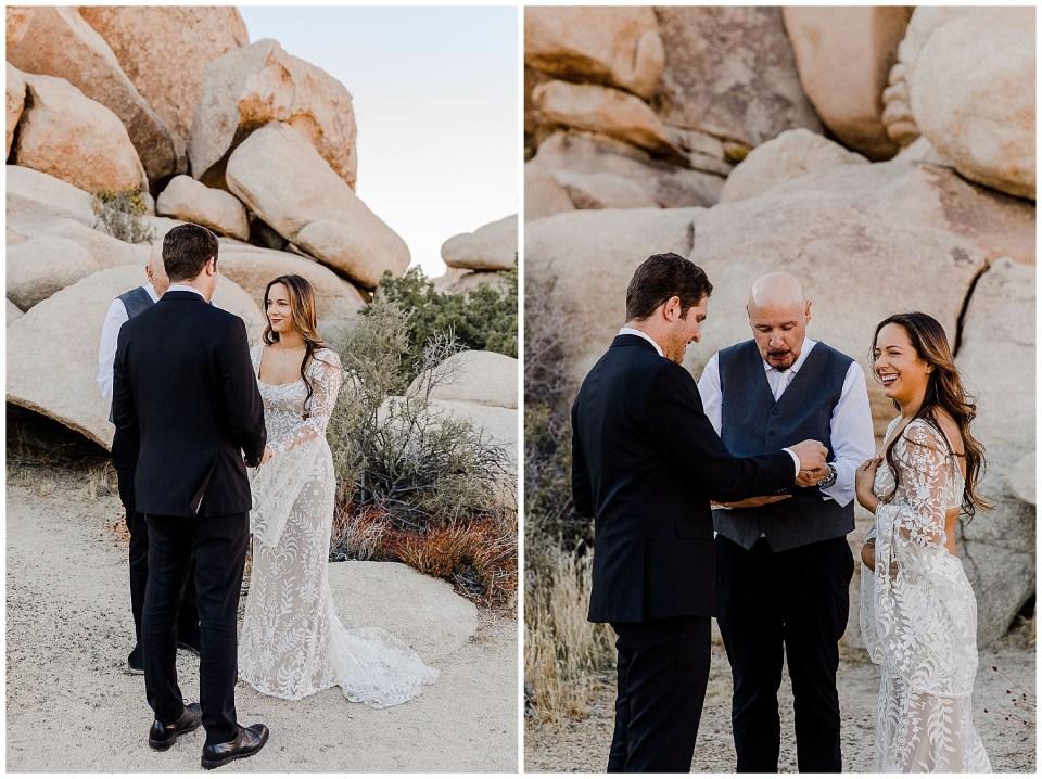 wedding ceremony in joshua tree national park