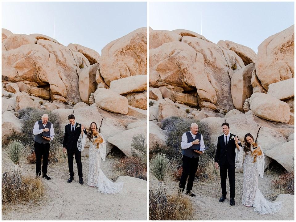 wedding ceremony in the desert of california