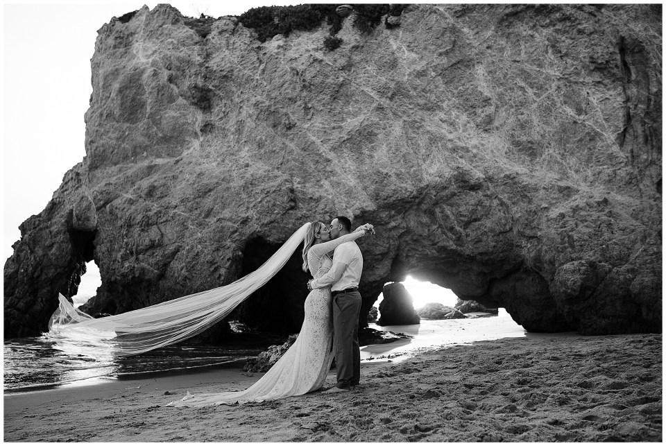 California elopement ideas - malibu beach elopement