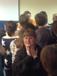 explaining the way 'prayer hands' help maintain alignment of the fetal head