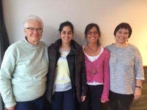 Certified Midwives Sinclair Harris, Mounia Amine, Sylvie Carignan, and Sylvie Saunier