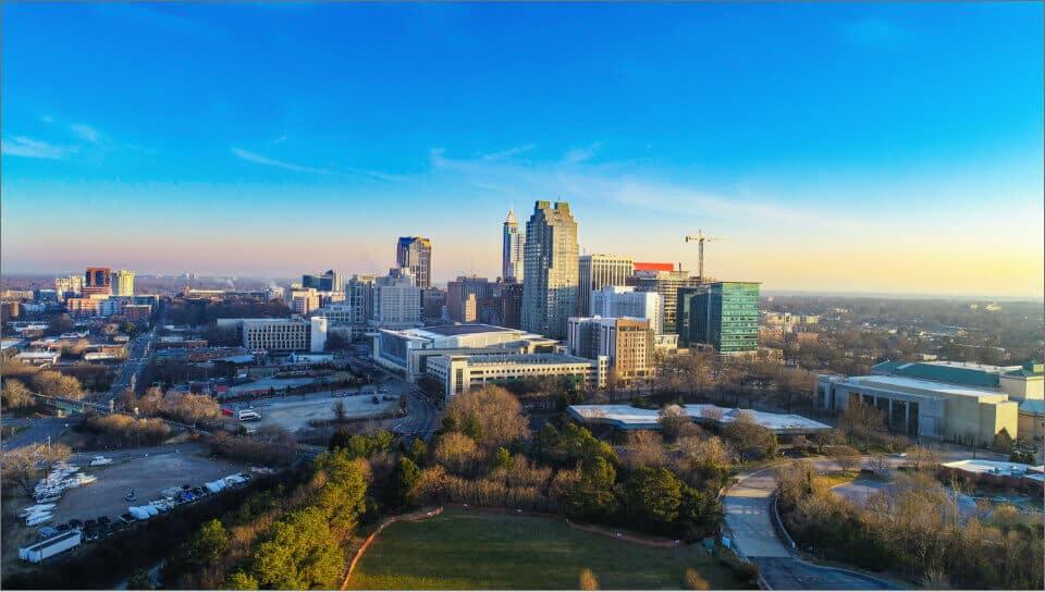 Skyline of Downtown Raleigh, NC