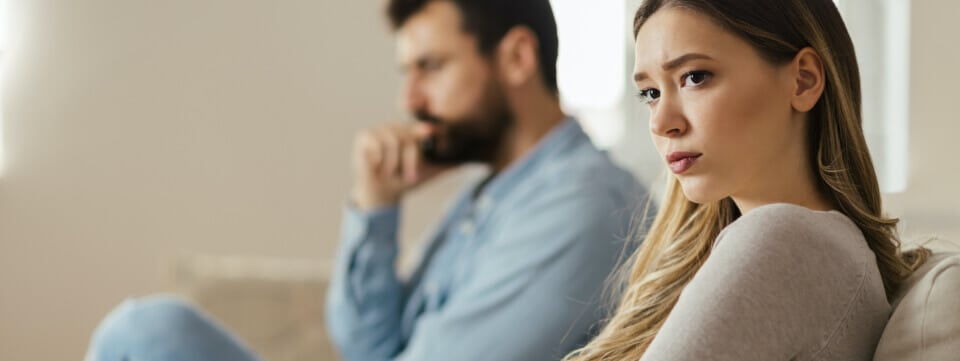 Woman and man in counseling session