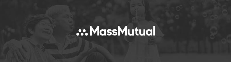 Mass Mutual logo over image of grandparents