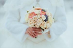 結婚式 ウェディング 冬 花嫁
