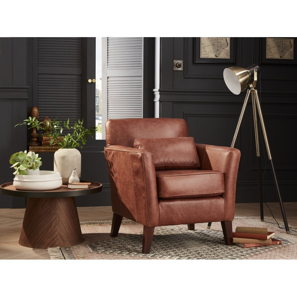 Accent Chair Living Room Compton Leather Accent Chair