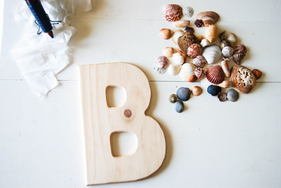 DIY Friday- SeaShell Letter | Breezing Through 1