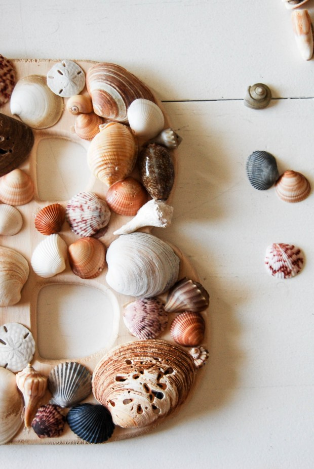 DIY Friday- SeaShell Letter | Breezing Through 4