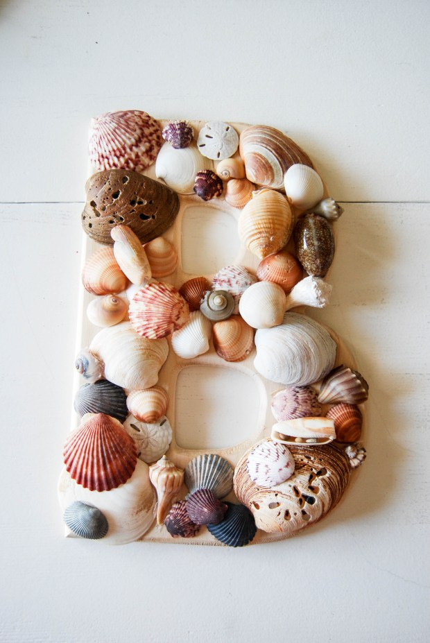 DIY Friday- SeaShell Letter | Breezing Through 5