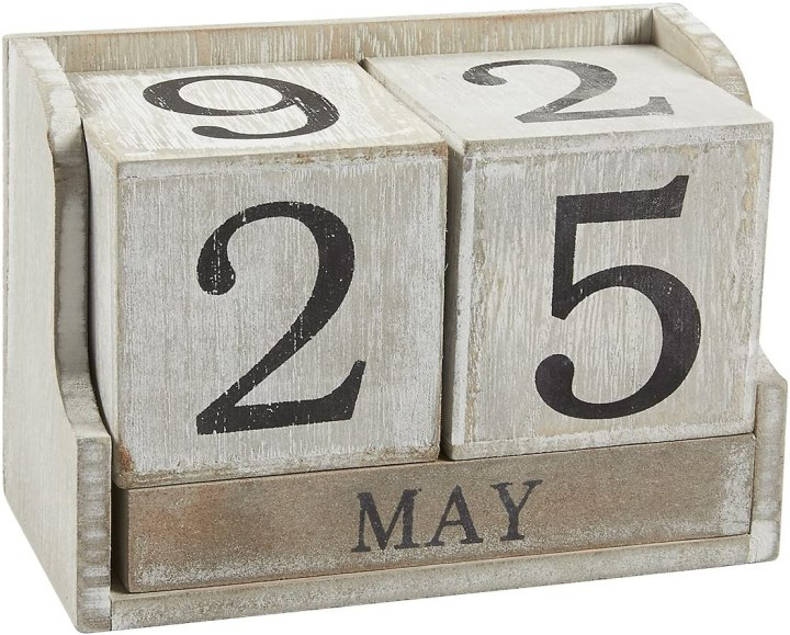 Wooden block calendar for Unique Gift Ideas