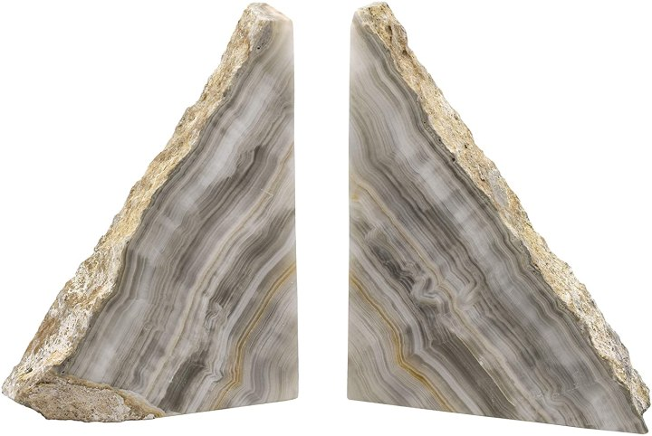 grey stone bookends