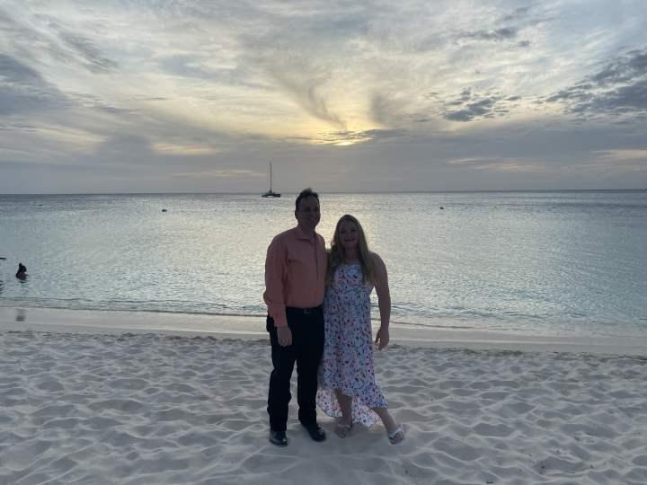 Joel and Kelly in Aruba