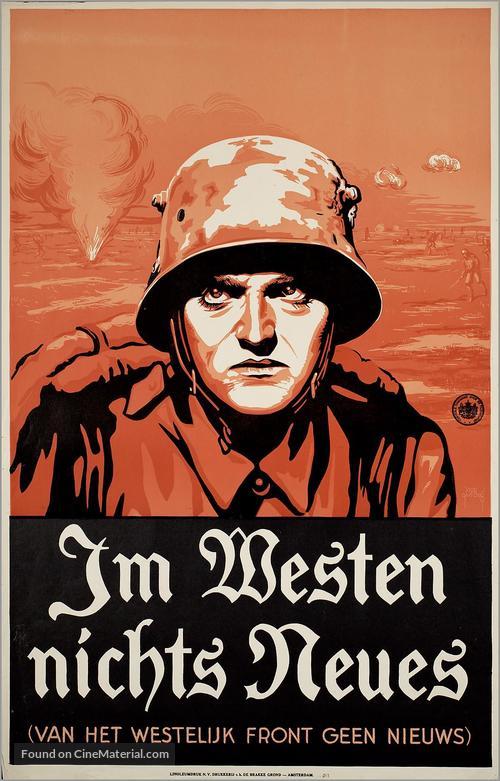 Dutch language movie poster vintage All Quiet on Western Front