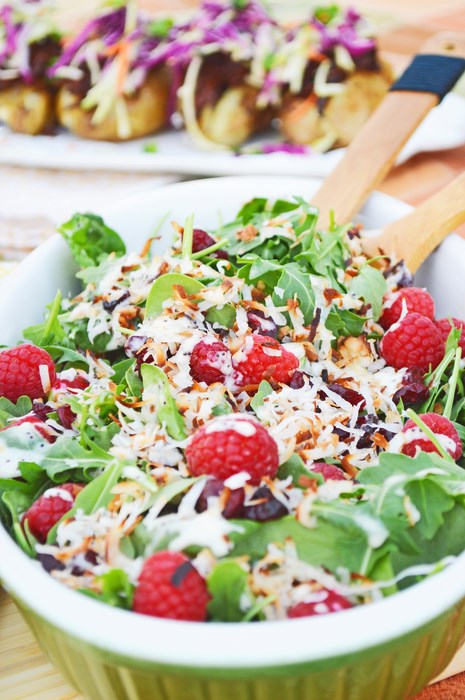 Raspberry Poppyseed Salad