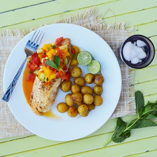 Tilapia with Mango Mint Chutney