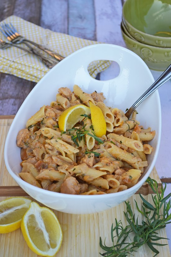 Tarragon Chicken and Butternut Squash Pasta