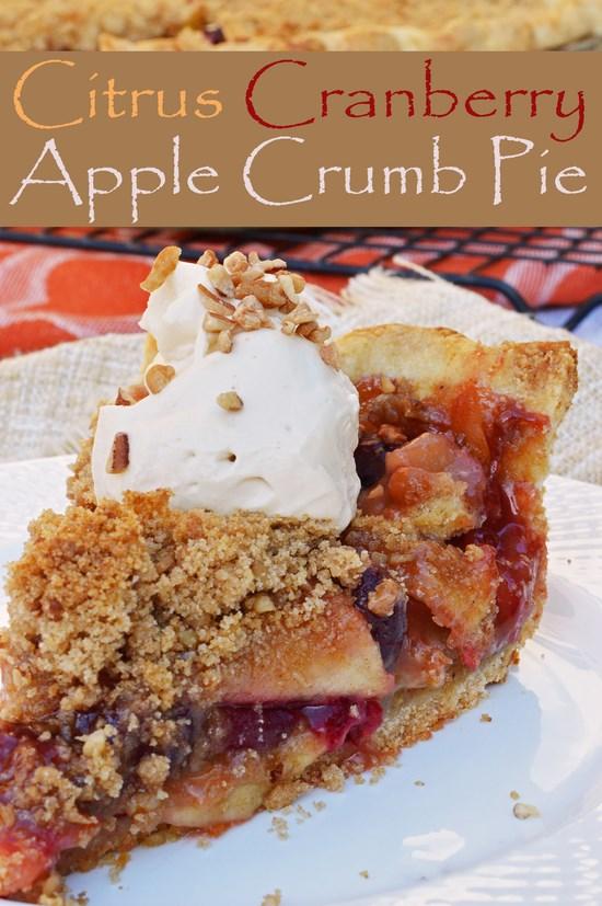 Citrus Cranberry Apple Pie