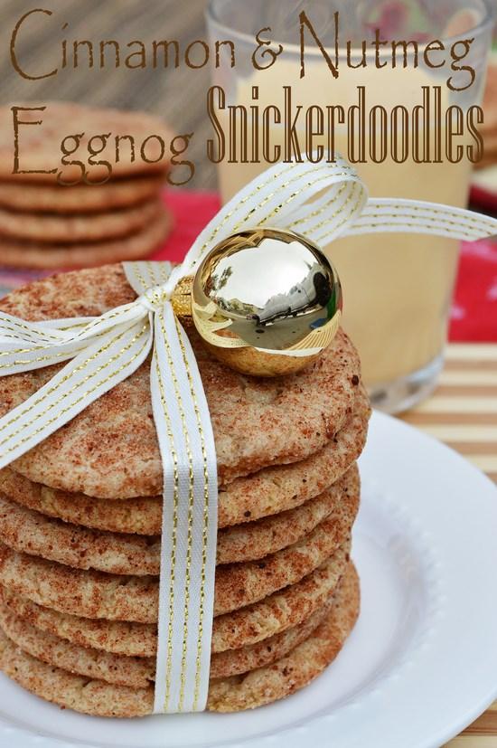 Gluten Free Eggnog Snickerdoodles