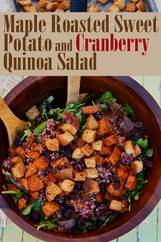 Maple Sweet Potato Cranberry Quinoa Salad
