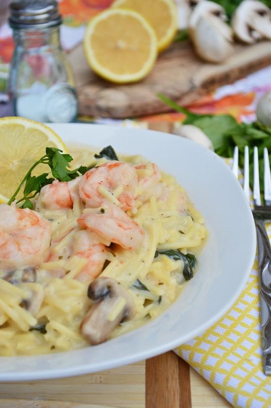 Gluten Free Creamy Shrimp Pasta