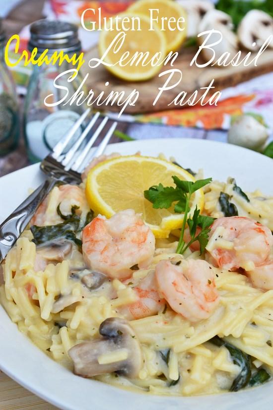 Gluten Free Lemon Shrimp Pasta