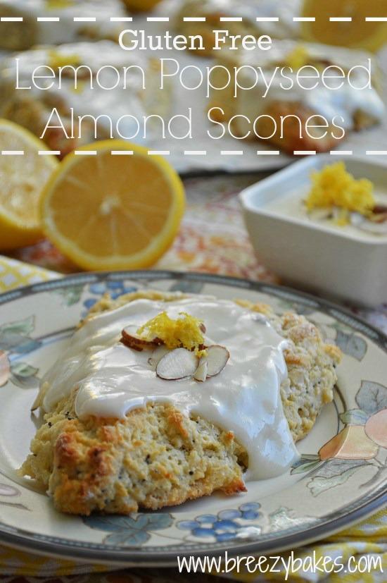Gluten Free Lemon Poppyseed Almond Scones - Breezy Bakes