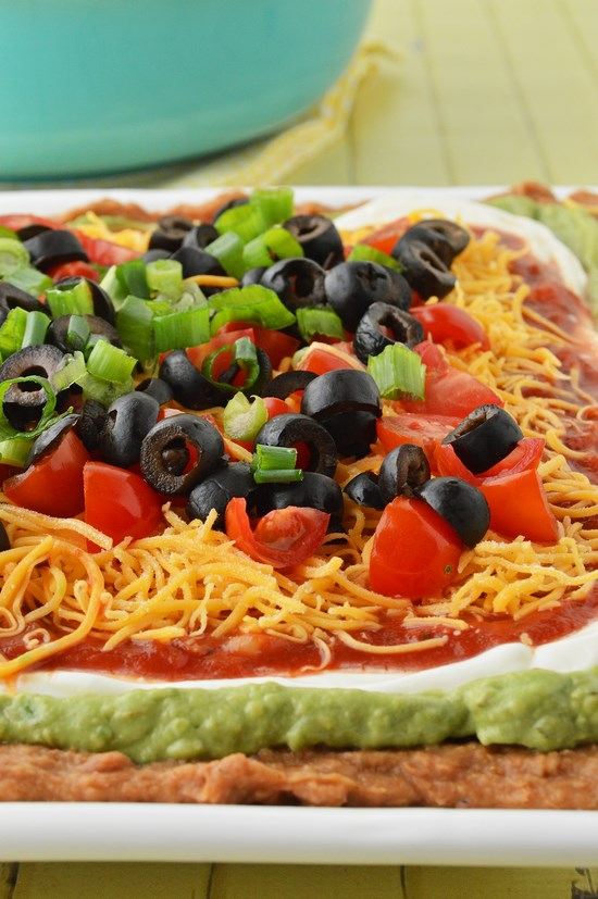 seven layer dip and chips