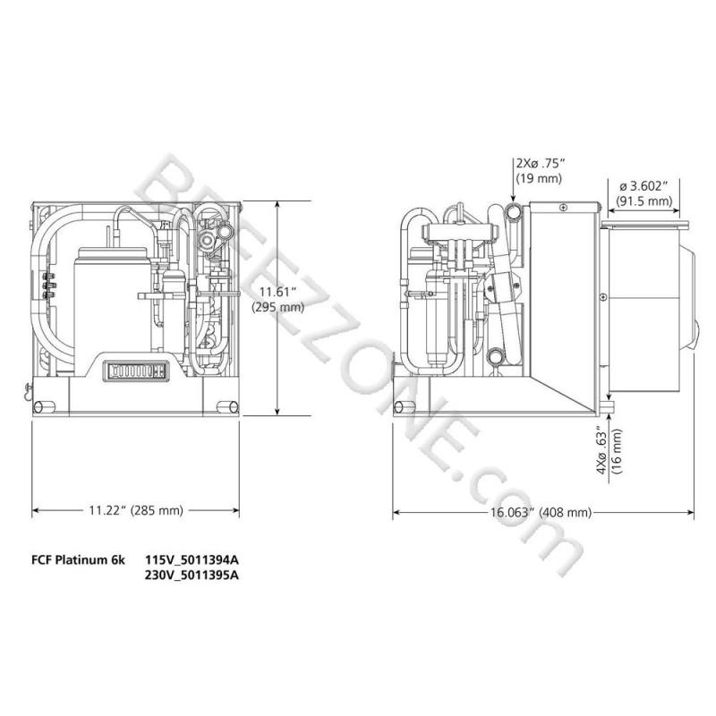 6,000 BTU Webasto Marine Air Conditioner with Heat Self
