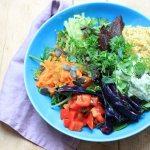 Eine gesunde Buddha Bowl als Reste-Essen