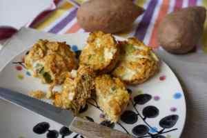 Süßkartoffelmuffins mit Thunfisch