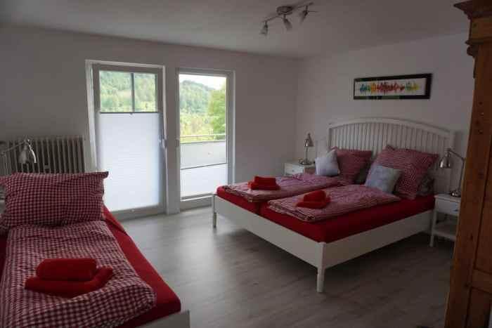 Familienbett im Schwarzwald Ferienhaus mit Kindern