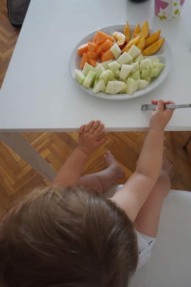 Obst zum Beikost fürs Babys - BLW und breifrei