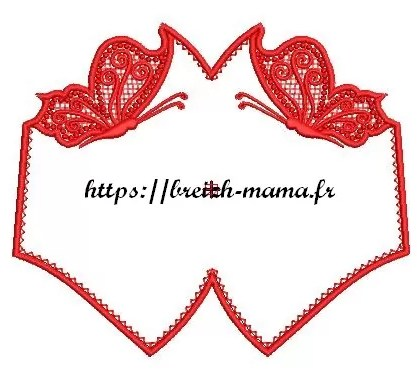 Motif broderie Masque ITH & Papillons FSL
