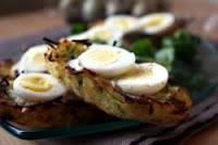 Nids de pommes de terre aux oeufs de caille