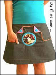 jupe à poches kangourou
