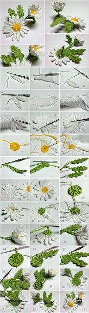 Marguerite 3D au crochet