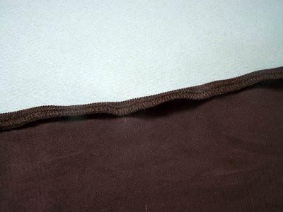 Préparation de la ceinture de la jupe