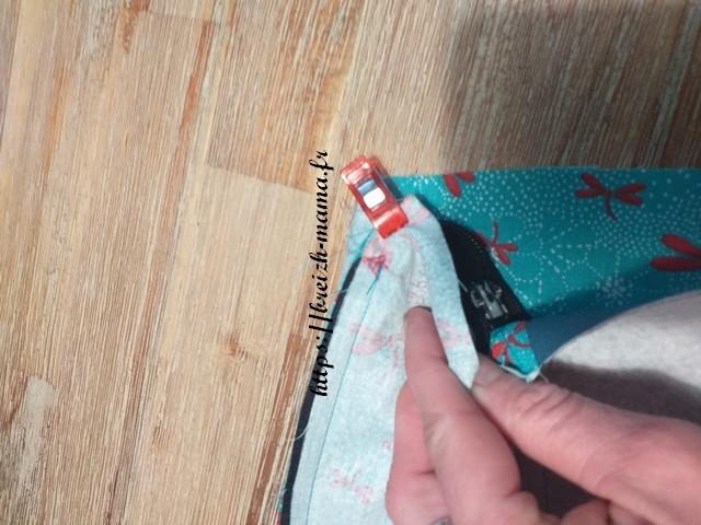 Dégager la fermeture et terminer votre couture