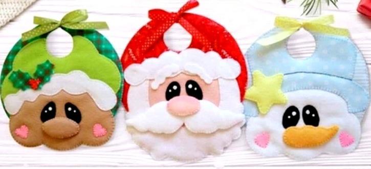 Patrons Bavoirs de Noël